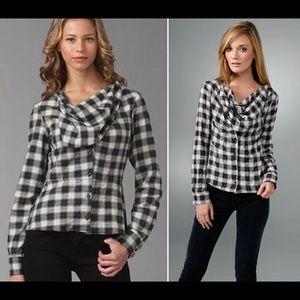 Designer L.A.M.B. Gwen Stehani Neckerchief shirt